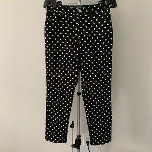 Like new Ralph Lauren polka dot black/white pants